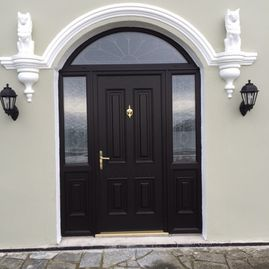 Dillon - black composite door with arch