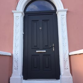 Dillon - palermo solid grey arched composite door