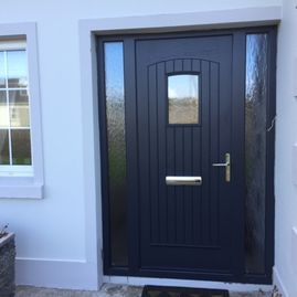 Dillon door grey - sidelights